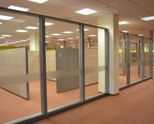 Trennwandsystem Jobcenter Döbeln, Wartebereich